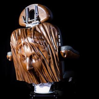 Veiled Virgin Carved Chair Back - Cake by BerchtoldDesignBuild