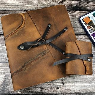 "Jumbo Watercolor Sketchbook - ""Wild West"" - Project by Kris Stewart"