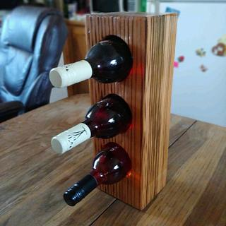 Wine Rack - Cake by Wheaties  -  Bruce A Wheatcroft   ( BAW Woodworking)