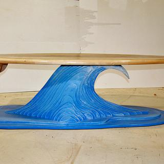 Surfboard coffee table - Project by Clark Fine Furniture