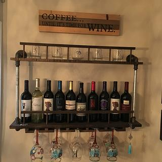 Wall wine rack - Woodworking Project by Jack King