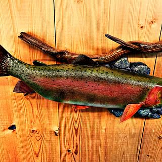 Carved Cutthroat Trout - Project by Danny Cowan