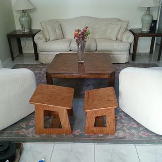 prayer stool and Bible table.  - Woodworking Project by BentWoodStudios