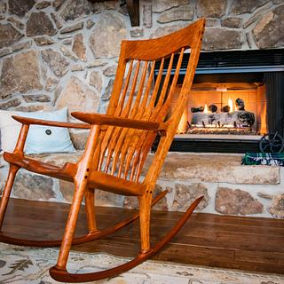 Flaming Cherry Rocker - Woodworking Project by oldrivers