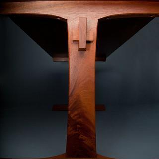 Mahogany Trestle Table - Project by Luke Addington
