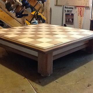 Walnut and Maple Chess Board - Woodworking Project by Jack King