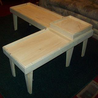 table for 2 couches - Woodworking Project by jim webster