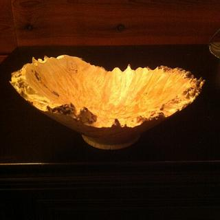 Natural edge birch bowl - Cake by Timber