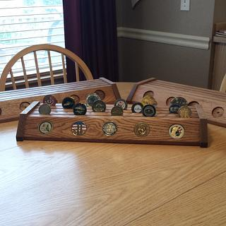 Some more challenge coin displays - Cake by Tim