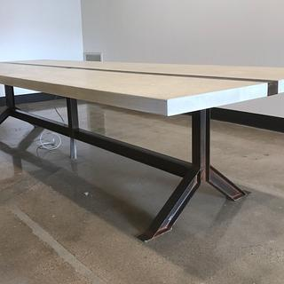 I beam conference table  - Woodworking Project by Indistressed