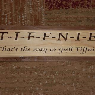 Stenciled Custom Sign - Woodworking Project by Shin