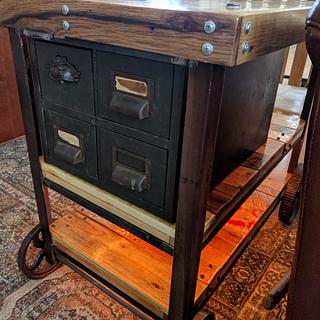 Steampunk Utility Side Table - Woodworking Project by Justin