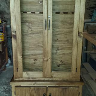 Gun cabinet with a secret - Project by Nate Ramey