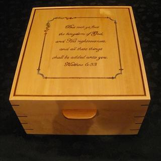 Birdseye Maple and Walnut wedding photo box - Cake by Lightweightladylefty