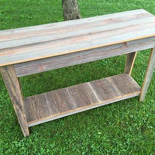 Entryway Table - Reclaimed Barn Wood - Project by Michael Ray