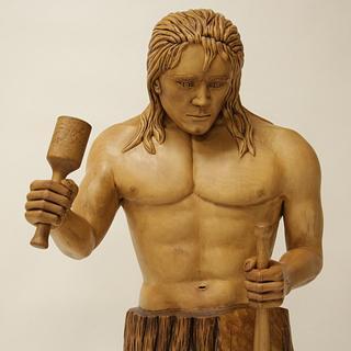 Self-Made Man Statue - Cake by Dennis Zongker