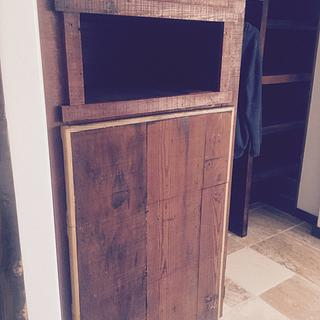 Reclaimed cedar cabinet - Woodworking Project by Evan Pipolo