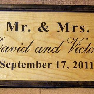 Mr. and Mrs. Wedding/Anniversary Signs - Project by Shin
