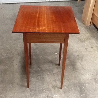 Mahogany Shaker End Table