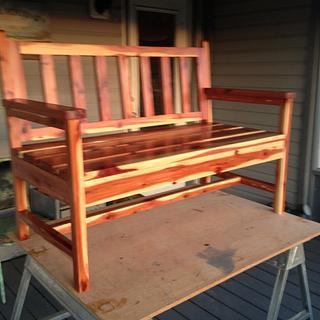 Cedar bench  - Woodworking Project by Dusty1
