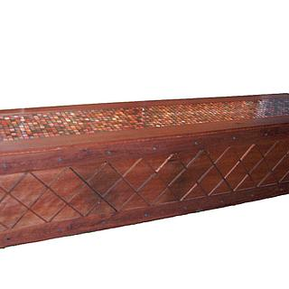 Australian IronBark Hardwood Lattice Chest with Mosaic Lid  - Woodworking Project by EmilyBieman