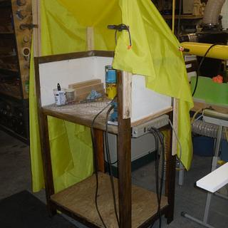 Sanding Station With Adjustable Hood - Cake by Kelly