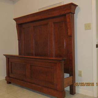 Cherry Queen bed for Grandaughter - Woodworking Project by oldrivers
