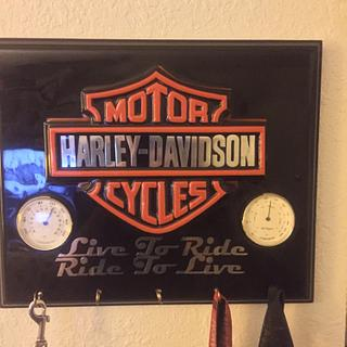Harley key hanger - Woodworking Project by Evan Pipolo