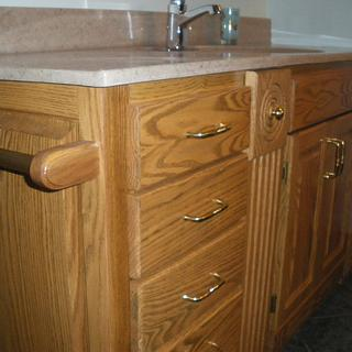 Bathroom vanity - Woodworking Project by Lightweightladylefty