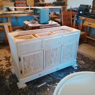 china hutch base - Woodworking Project by jim webster