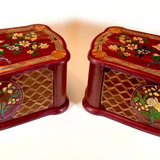 Two marquetry boxes - Cake by shipwright