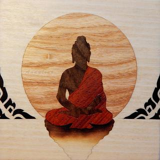 Buddha marquetry wooden box - Project by Andulino