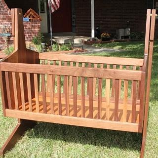 Swinging Baby Cradle - Woodworking Project by Papa Time