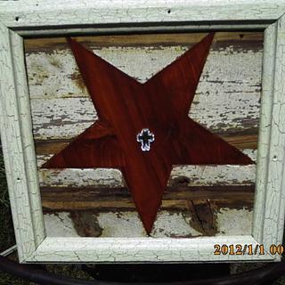 inlaid star - Cake by barnwoodcreations