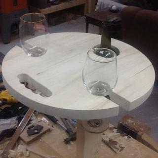 Portable campers wine table - Woodworking Project by Thorreain