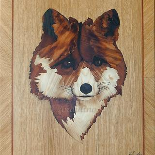 Fox marquetry to order by Andulino - Project by Andulino