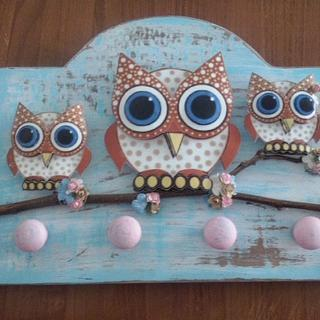Owl apron & cloth hanger - Woodworking Project by Legorreto