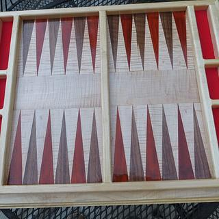 Table Top Backgammon Board