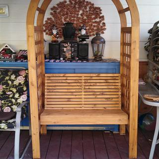 Wedding arch and guest book bench - Woodworking Project by Papa Time