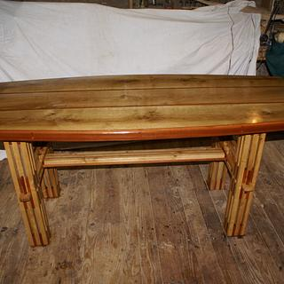Oak and Rosewood demountable dinning table - Woodworking Project by william