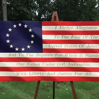Pledge Allegiance Flag - Woodworking Project by Roger Strautman