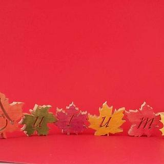 Autumn word art - Woodworking Project by woodworker13403