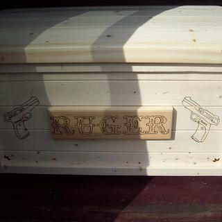 toy box for my great grandson ruger - Woodworking Project by jim webster