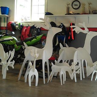 A herd of reindeer - Cake by Tim