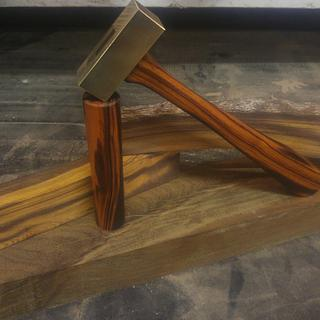 Desert Ironwood Brass Setting Hammer