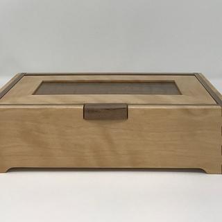Birch and Walnut Keepsake Box