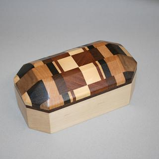 Multi-wood Octagon Box - Project by Roger Gaborski