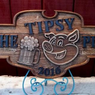 The Tipsy Pig - Woodworking Project by CarvedArtStudio511