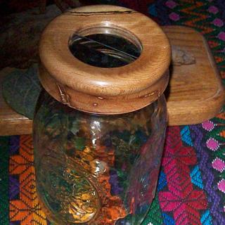 Mason Jar coin bank - Woodworking Project by Rustic1