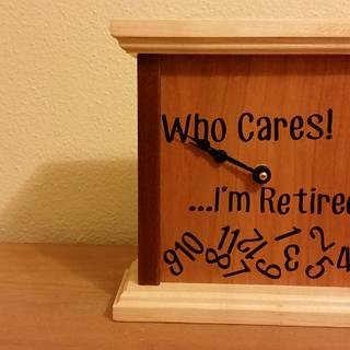 Retirement Clock - Woodworking Project by David E.
